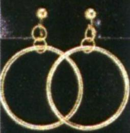a-3246 gold hoop earrings