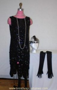h3165 1920s beaded gown