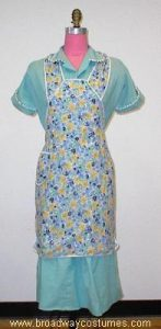 h3445 1940s woman house dress