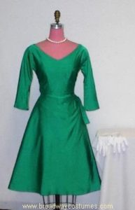 h3555 1950s woman cocktail gown